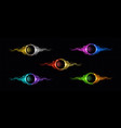 electric lightning ring with color glow effect vector image