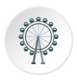 ferris wheel icon circle vector image vector image