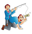 fishing for cash vector image