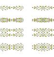 floral branch elements vector image vector image