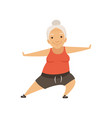 grey senior woman doing sports grandmother vector image vector image