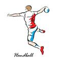 handball vector image vector image