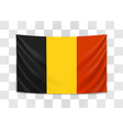 hanging flag belgium kingdom belgium vector image vector image