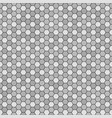 hexagon pattern seamless gray and black vector image vector image