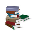 isometric book pile vector image
