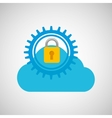lock security icon vector image vector image