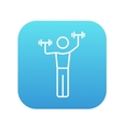 Man exercising with dumbbells line icon vector image vector image