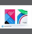 material design of business brochure set abstract vector image vector image