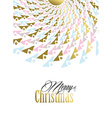 Merry Christmas gold tribal mandala vector image vector image