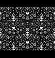 mexican folk art seamless skull pattern vector image vector image