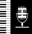 Music background with keyboard and microphone vector image vector image