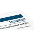 newspaper - employment vector image vector image