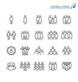 people line icons vector image
