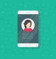 personal info data on mobile phone vector image vector image