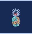 pineapple beach vector image vector image
