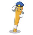 police baseball bat character cartoon vector image