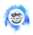 pure water label template vector image