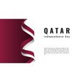 qatar independence day celebration banner with vector image