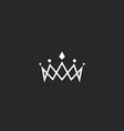 Royal crown logo mockup monogram jewel tiara vector image