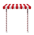 Sale stand with red awning vector image vector image