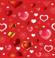 seamless valentines day pattern 8 vector image