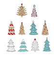 set christmas cute colorful socks vector image vector image