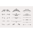 set headers and border elements vector image vector image