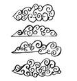 set of brush clouds ink grunge vector image