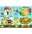 Set of family infographics - wedding types house vector image vector image