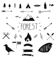 Set of hand drawn tribal design elements Hike vector image