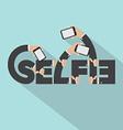 Smartphone In Hands Selfie Typography Design vector image vector image