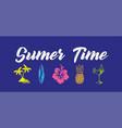 sumer time vector image