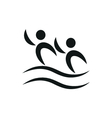 Synchronized swimming pictogram monochrome vector image