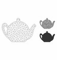 teapot mesh 2d model and triangle mosaic vector image vector image