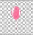 transparent helium balloon vector image