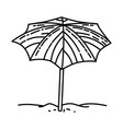 umbrella nice icon doodle hand drawn or outline vector image vector image