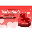 valentine day party invitation vector image
