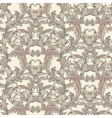 Vintage baroque seamless pattern with swirls