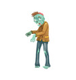 walking dead icon zombie and halloween vector image