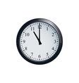 wall clock set at 11 o clock vector image vector image