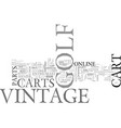 where to find info on vintage golf carts online vector image vector image