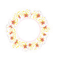 white plum blossom flower banner wreath vector image