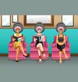 women in hair salon vector image