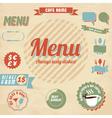 Cafe menu design elements vector image