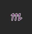 Letter M logo hipster monogram design element vector image