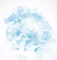 3d blue design element vector image vector image