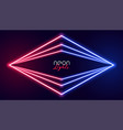 abstract geometric neon lights background vector image