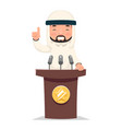 arab politician tribune performance businessman vector image