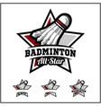badminton ball all star badge logo