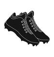 Baseball sneakers baseball single icon in black vector image